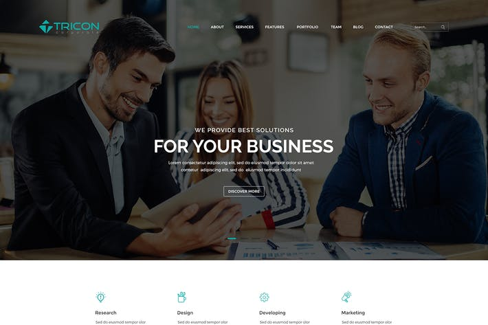 Cover Image For Tricon - Corporate PSD Template