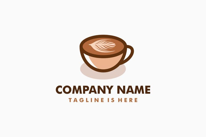 Thumbnail for Coffee Latte Art Logo Template