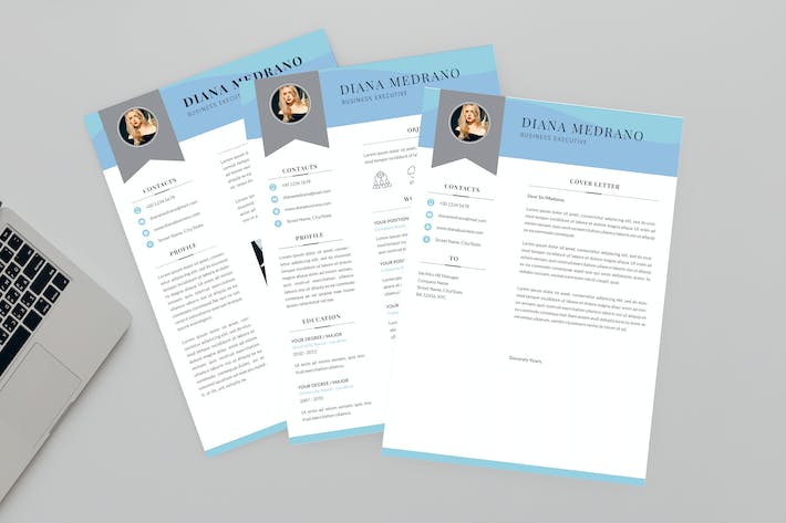 Thumbnail for Diana Business Resume Designer