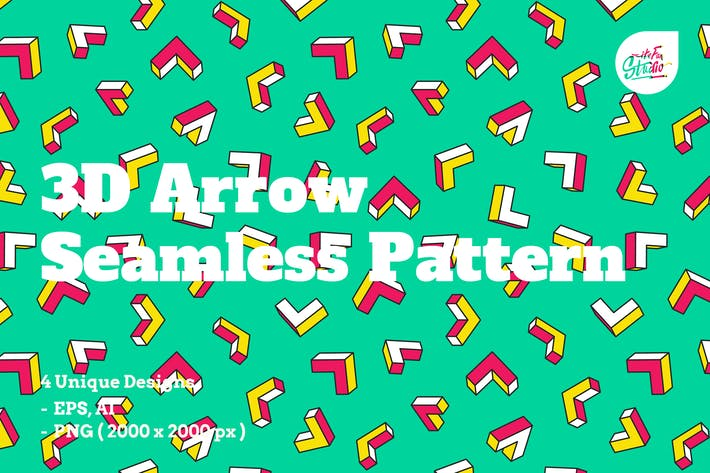 Thumbnail for 3D Arrow Seamless Patterns