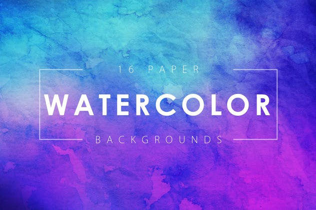 16 Watercolor Paper Backgrounds Vol. 3