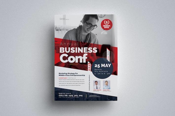 Thumbnail for Business Konferenz-Flyer