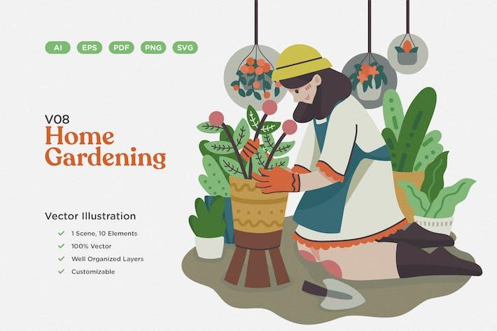 Thumbnail for Home Gardening Vektor Illustration