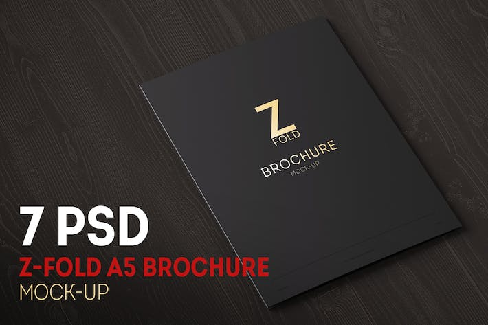 Thumbnail for Z-Fold Brochure A5 Mock-up