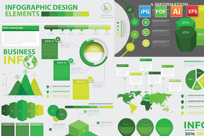 Thumbnail for Modern Infographic elements design