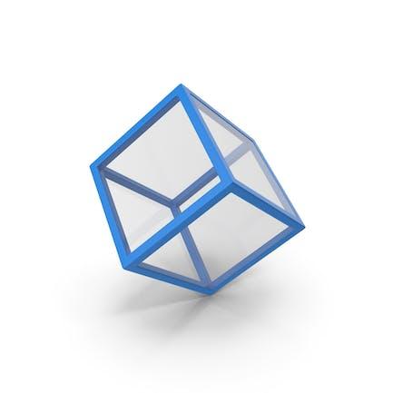 Glass Cube Blue