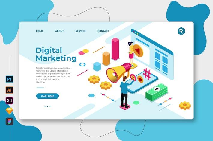 Thumbnail for Digital Marketing - Web & Mobile Landing Page