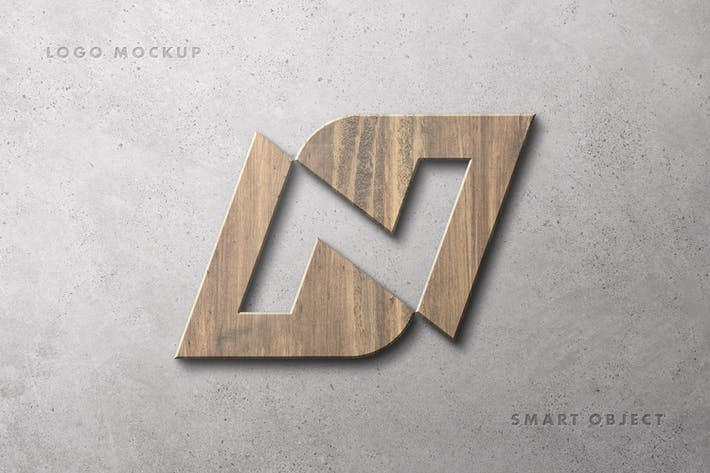 Thumbnail for Wooden Logotype Mockup