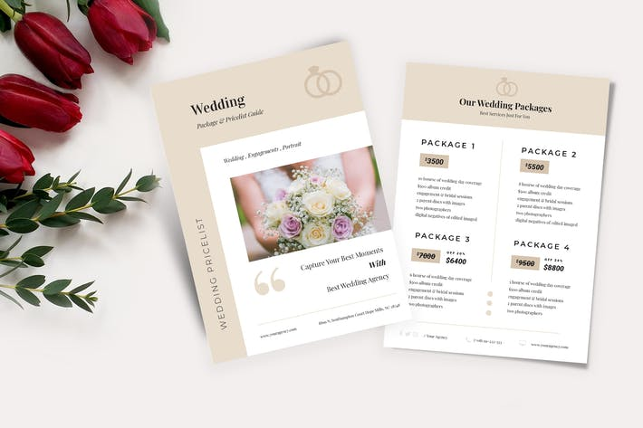 Cover Image For Wedding Price List Flyer Vol 04