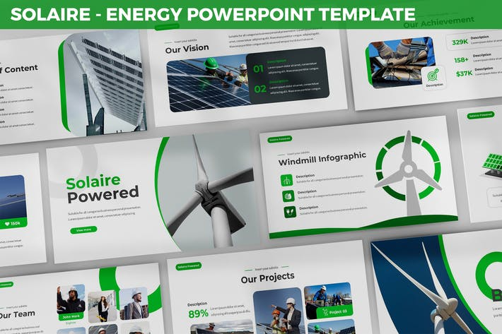 Thumbnail for Solaire - Energy Powerpoint Template