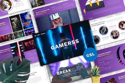 Gamerss - Games Business Googleslide Template