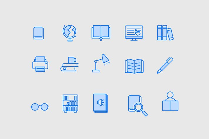 Thumbnail for 15 Library Icons