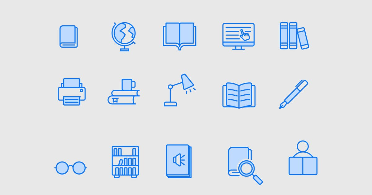 Download 15 Library Icons by creativevip