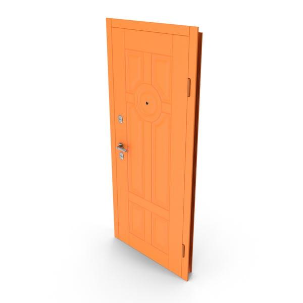 Eingangstür Orange