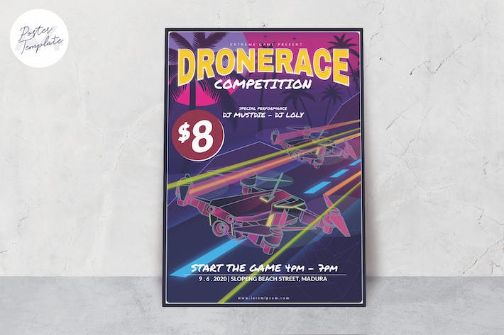 Thumbnail for Drone Poster Template