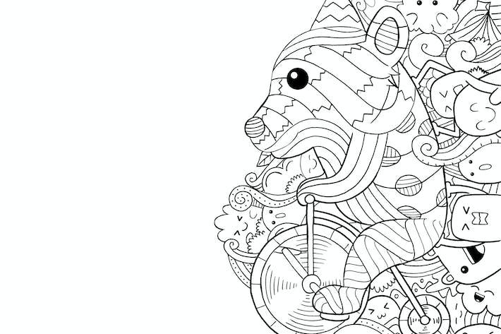 Circus Bear Doodle