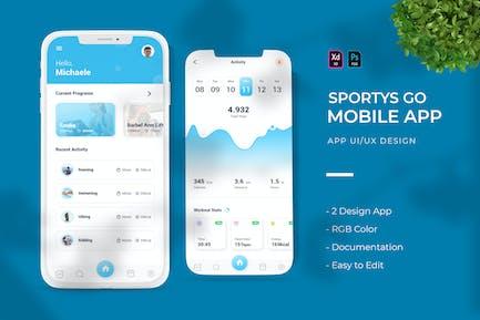 Sportys Go   App Design
