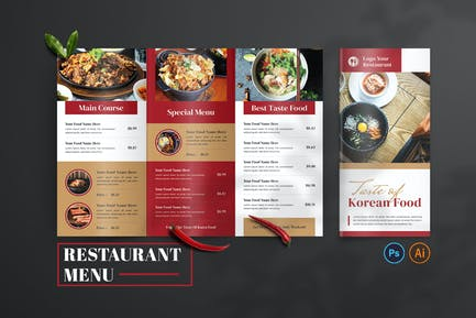 Taste Of Korea – Food Menu Design
