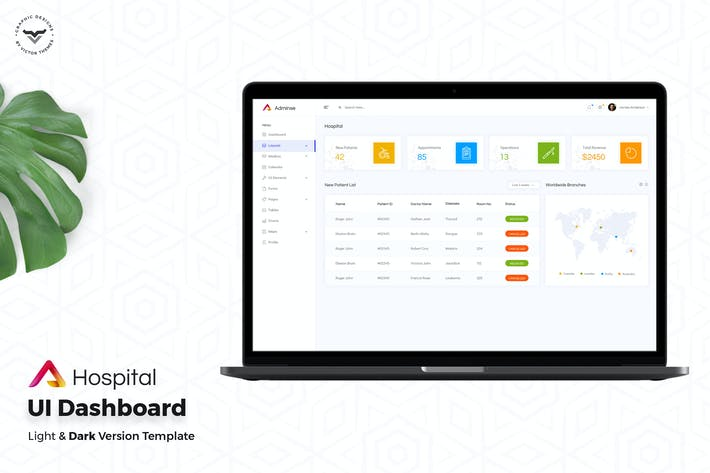 Thumbnail for Hospital Admin Dashboard UI Kit