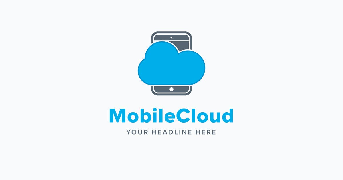 Download Mobile Cloud Logo Template by Pixasquare
