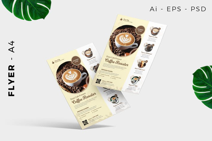 Thumbnail for Coffee Cafe Flyer Vorlage