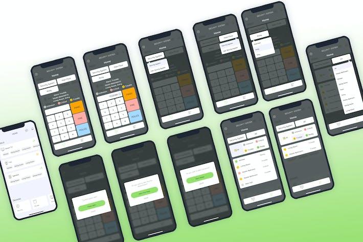 Thumbnail for Sécurité Smarthome Mobile UI - FP