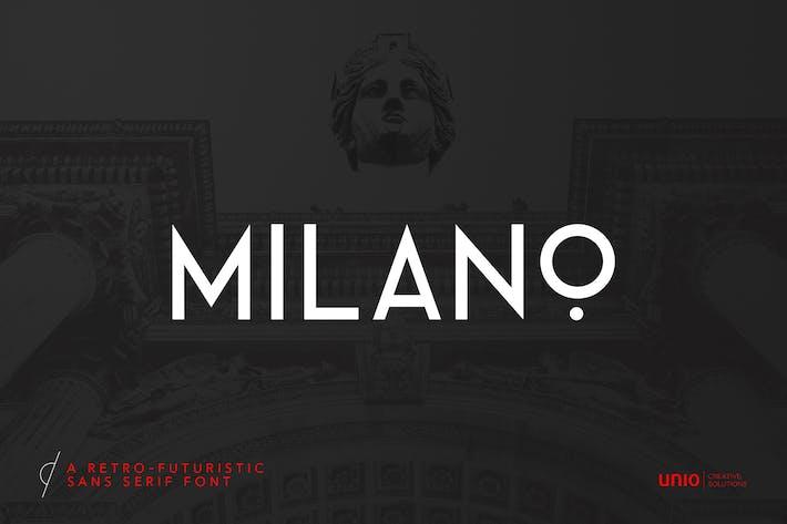 Thumbnail for Milano - RetroFuturistic Sans