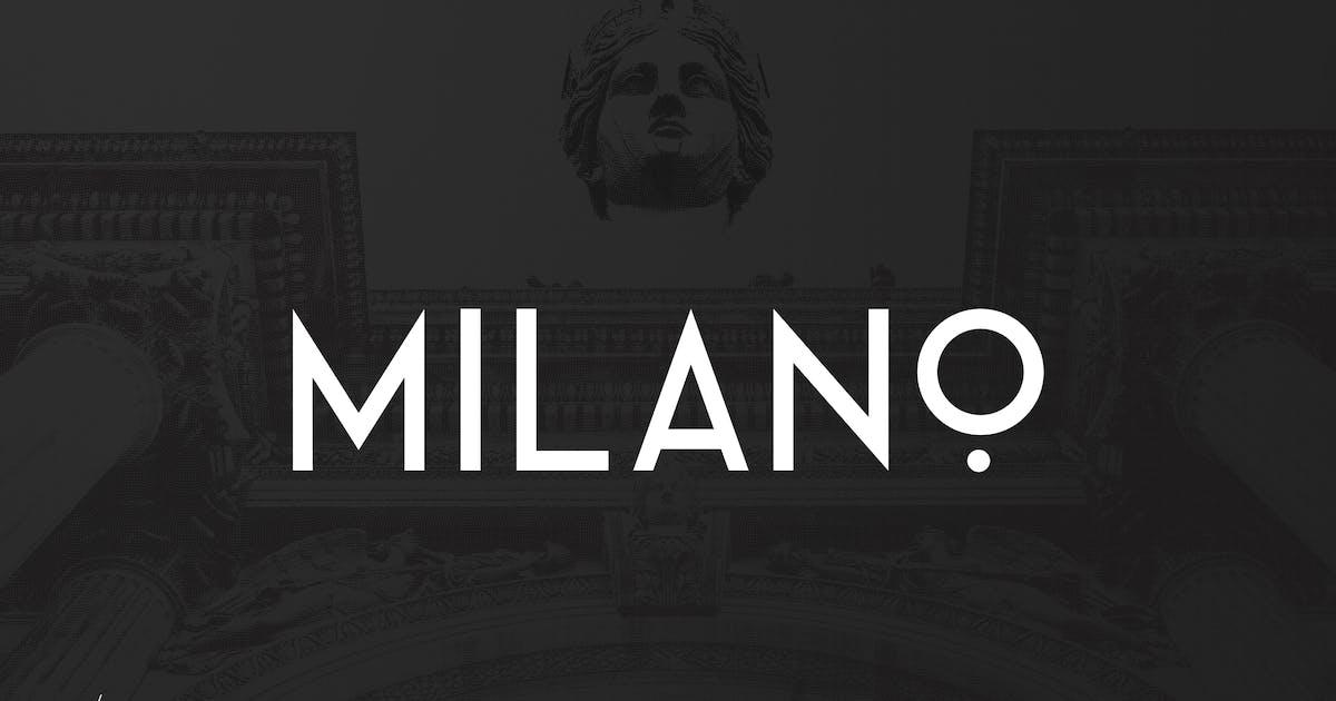 Download Milano - RetroFuturistic Sans by UnioCS