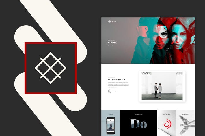 Thumbnail for Wythe - Creative Portfolio PSD Template
