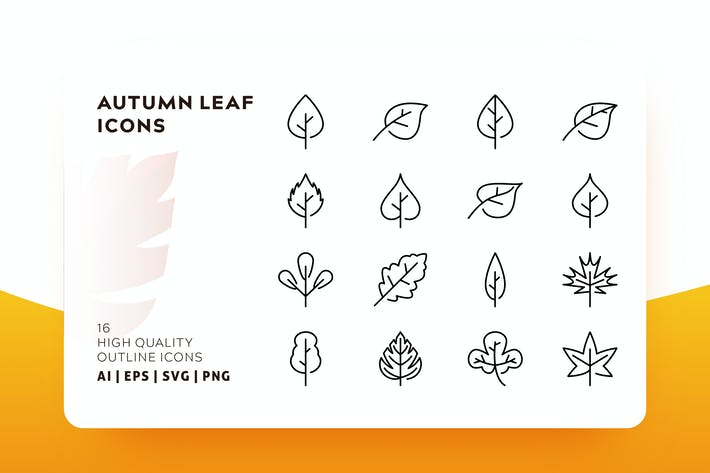 Thumbnail for AUTUMN LEAF OUTLINE