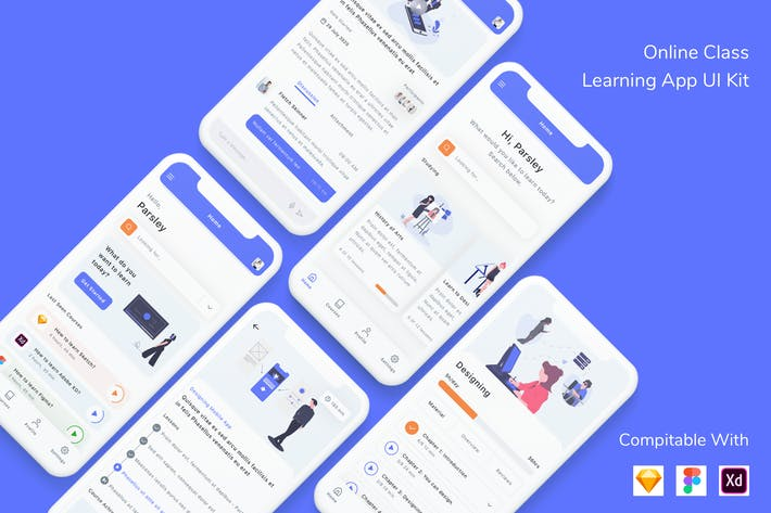 Cover Image For Online Class Learning App UI Kit
