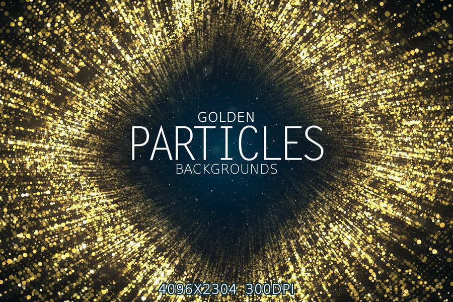 Golden Particles Backgrounds