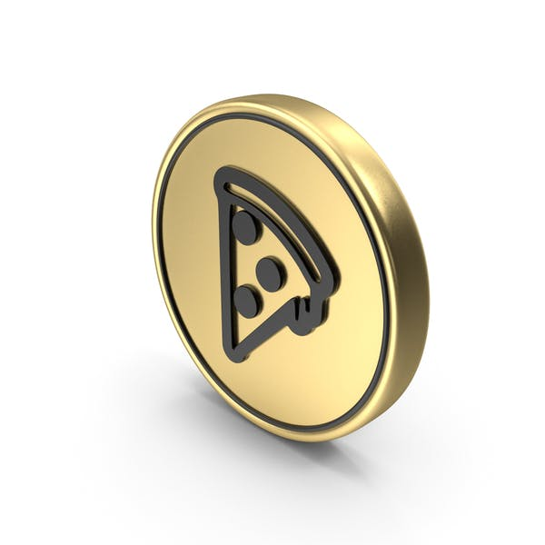 Pizza Slice Coin Logo Icon