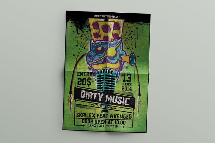 Thumbnail for Dirty music Flyer