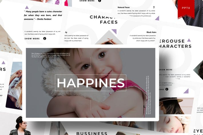 Thumbnail for Счастья | Шаблон Powerpoint