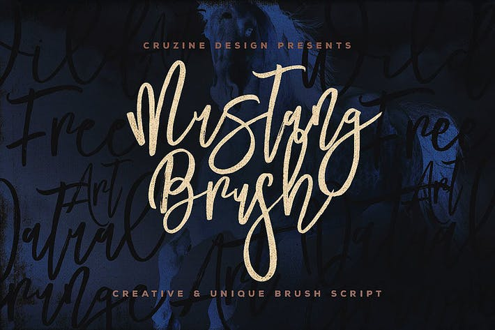 Thumbnail for Mustang Brush Font