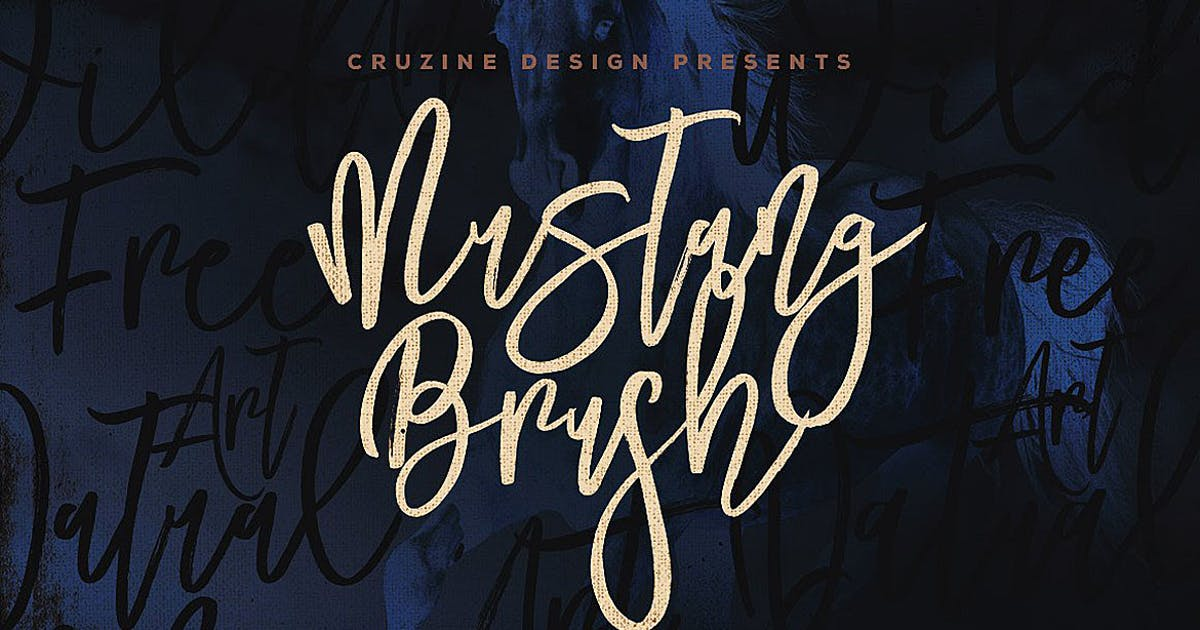 Download Mustang Brush Font by cruzine