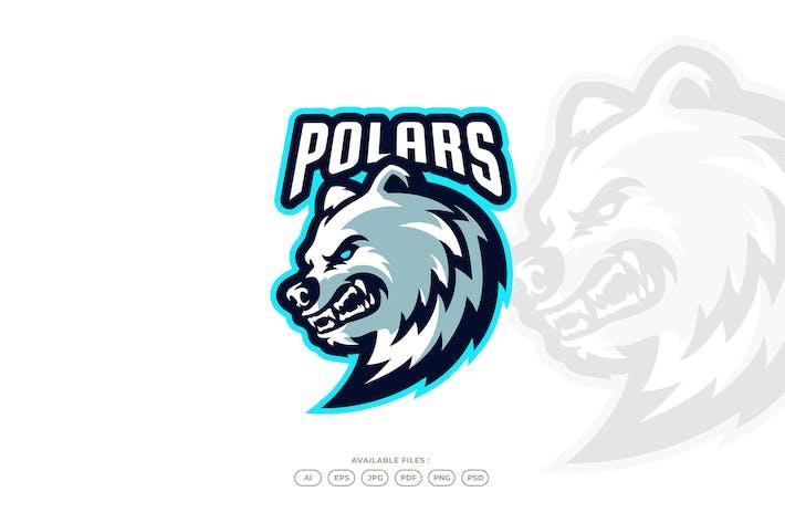 Thumbnail for Polar Bear Esport and Mascot Logo