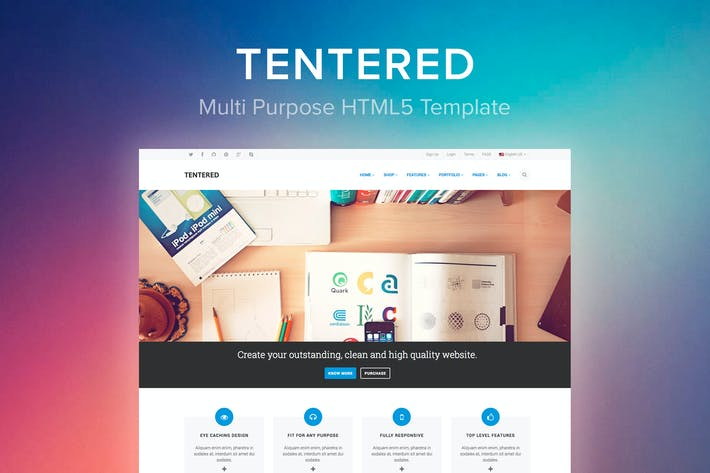 Thumbnail for Tentered - Multipurpose HTML5 Modèle