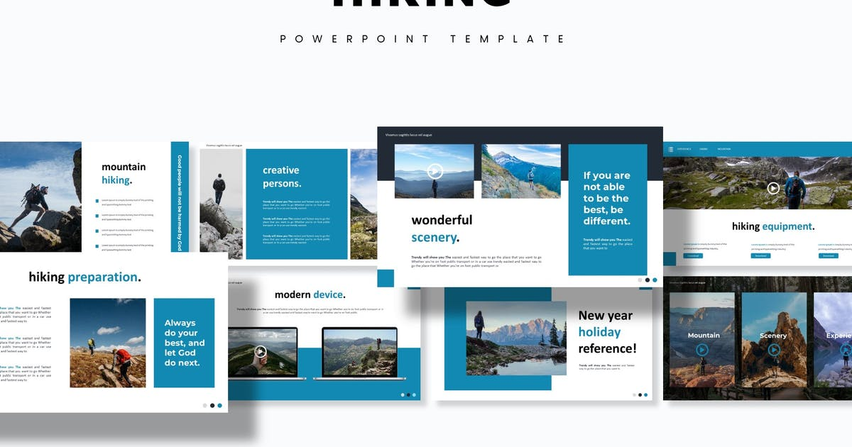 Download Hiking - Powerpoint Template by aqrstudio