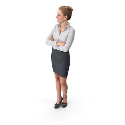 Geschäftsfrau gestellt