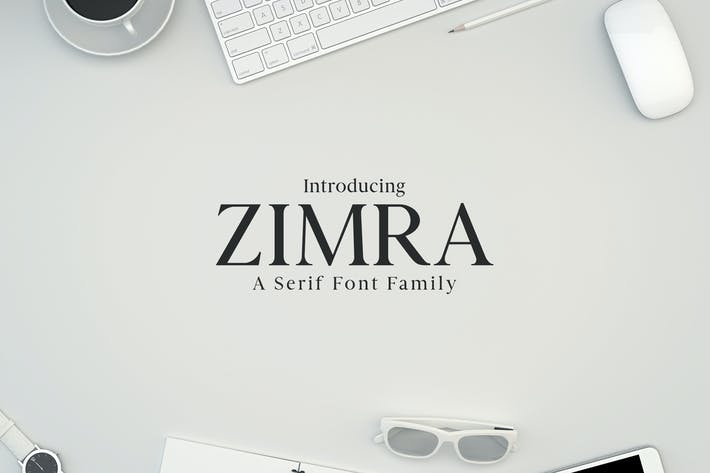 Thumbnail for Zimra Serif Fonts Family Pack