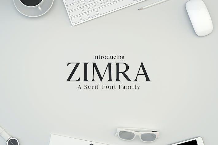 Thumbnail for Zimra Serif Fonts Family Pack