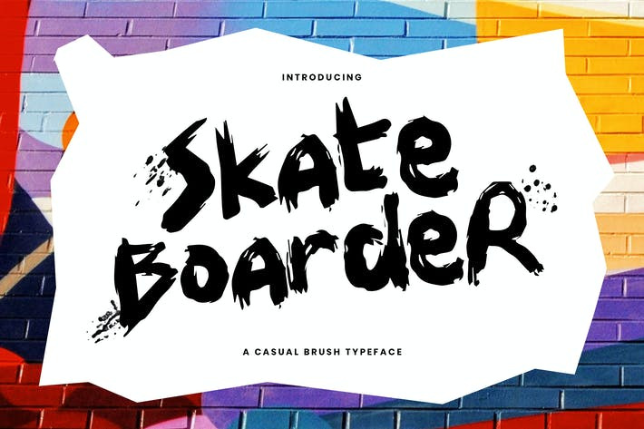 Skateboarder - Un divertido y casual cepillo tipo de letra