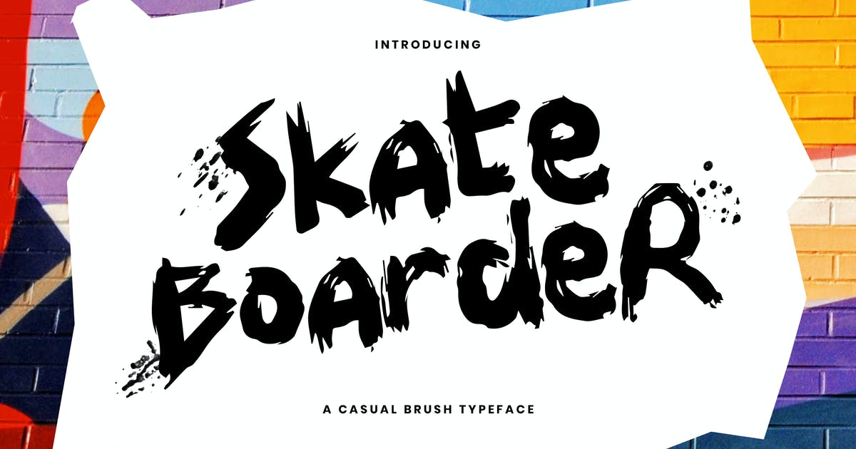 Download Skateboarder - A Fun & Casual Brush Typeface by Slidehack