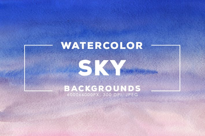 Thumbnail for 30 Watercolor Sky Gradient Backgrounds