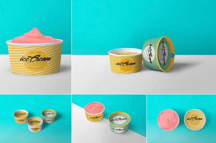 Thumbnail for 5 Yummy Ice Cream Cup Mockups