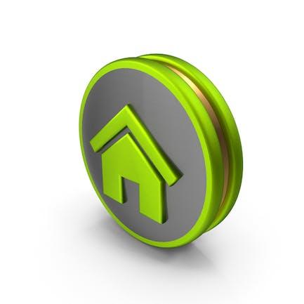 Grünes Home-Symbol