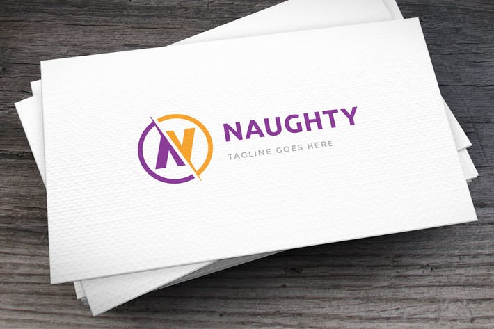Cover Image For Naughty Letter N Logo Template