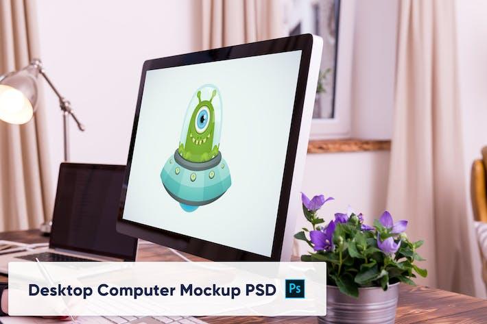 Thumbnail for Mockup PSD d'ordinateur de bureau dans Office